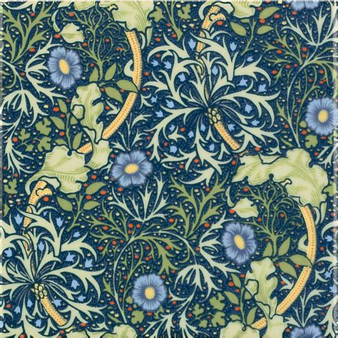 Victorian Home Interior Design by William Morris Seaweed Interior Ceramic Wall Tiles