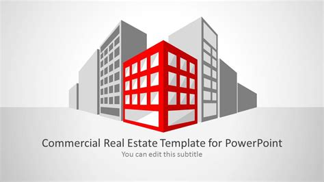 ppt templates for architecture commercial real estate template for powerpoint slidemodel