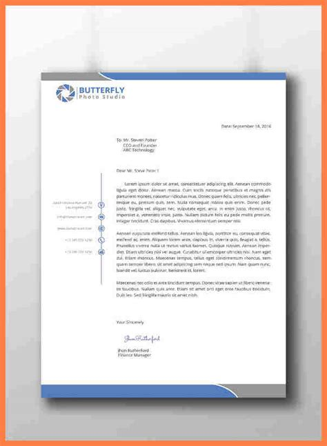 professional stationery templates 8 corporate letterhead templates company letterhead