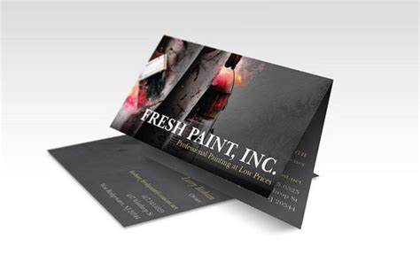 tutorial carding vistaprint vistaprint folded business card fire paint smashing buzz