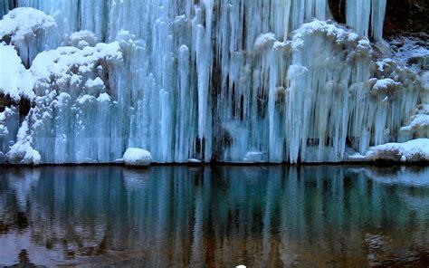 ice falls desktop background wallpaper