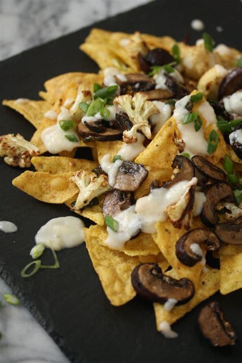 nacho recipe cauliflower healthy nachos with mushrooms cauliflower cheese sauce
