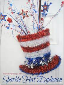 diy sparkle hat patriotic decoration