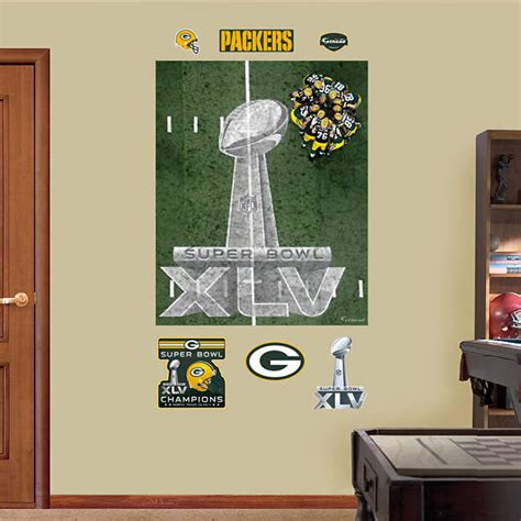 green bay packers home decor green bay packers super bowl xlv 25 yard line mural wall