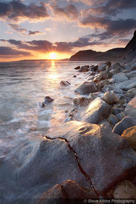 jurassic coast photo  rocks  sunset  dorset england