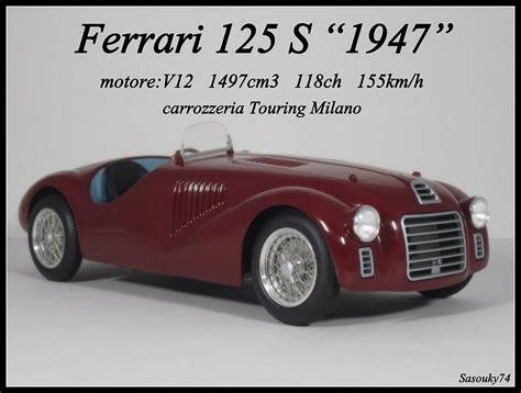 ferrari 125 s ferrari rare miniatures in big parts legende miniatures