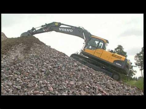 work  slopes   volvo crawler excavator part    youtube