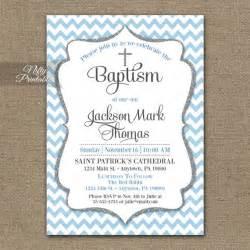 printable baptism invitation templates blue baptism invitations printable baby blue chevron baptism