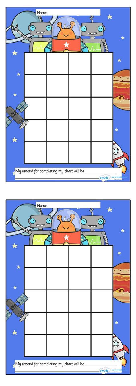 printable reward charts for elementary students twinkl resources gt gt space sticker st reward chart