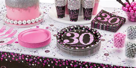 30th birthday decorations pink sparkling celebration 30th birthday supplies