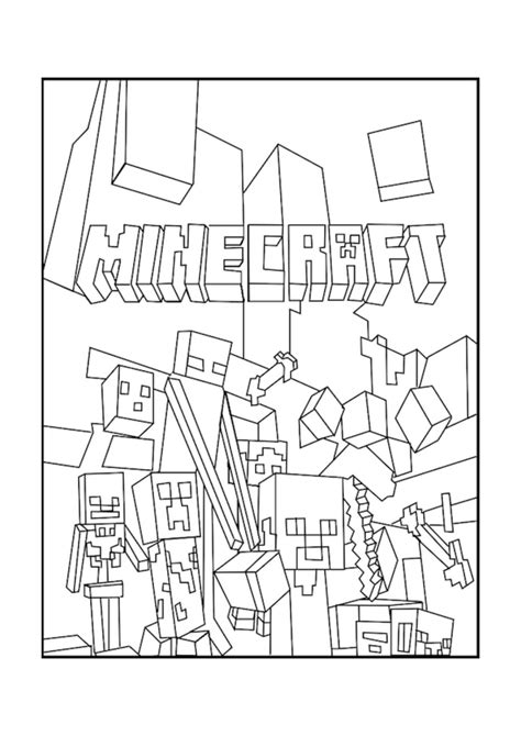 minecraft coloring pages games a minecraft mobs coloring page boys coloring pinterest