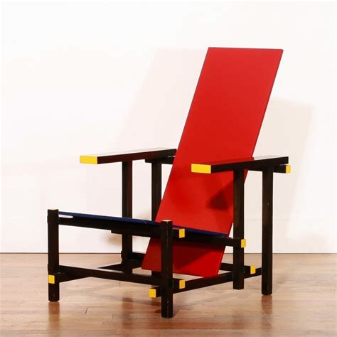 red and blue armchair cassina 219 vintage design items