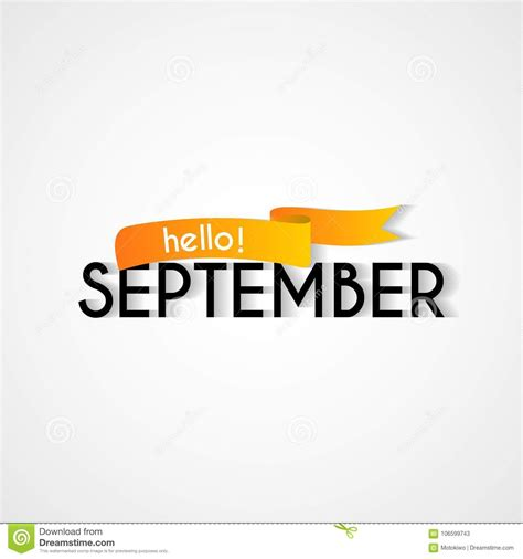 new month card happy new month september background design stock illustration illustration of quote hello