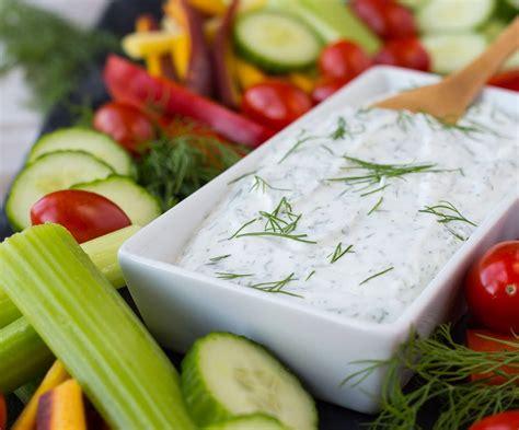 vegetables dip dill vegetable dip recipe healthy version cooks 174