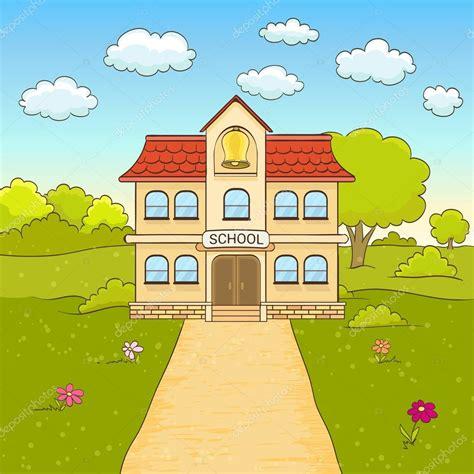 imagenes animadas de una escuela dibujos animados de dibujo de escuela primaria de fachada