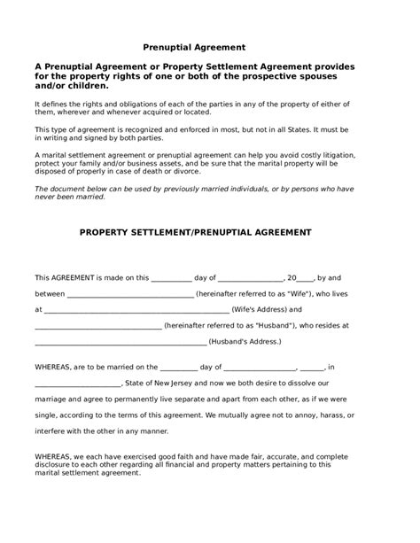 Prenuptial Agreement Forms Edit Fill Sign Online Handypdf Prenup California Template