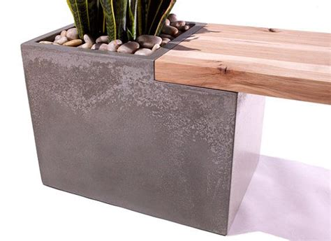 concrete and wood benches concrete wood planter bench by taoconcrete on etsy 1000 00 a little high on the price but