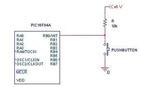 when to use pull up and pull resistors r 233 sistance de pull up pic 16f84a