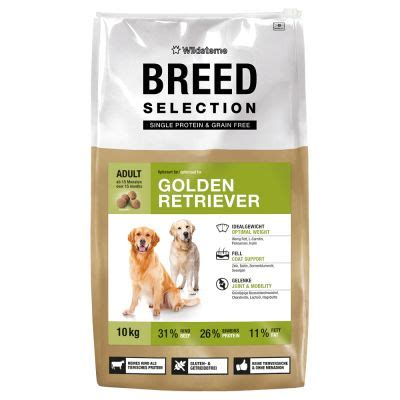 golden retriever diet plan crocchette per cani wildsterne breed selection golden retriever zooplus