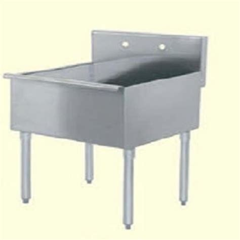 stainless steel mop sink evoo ebms2424 24 quot x 24 1 2 quot stainless steel mop sink