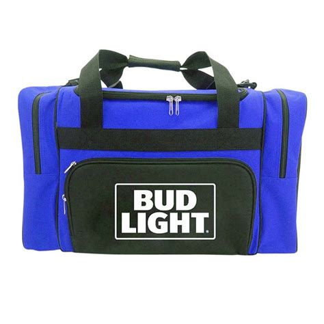 bud light shoulder duffle cooler bag