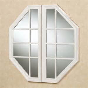 Faux Window by Cheverly Faux Window Octagonal Wall Mirror