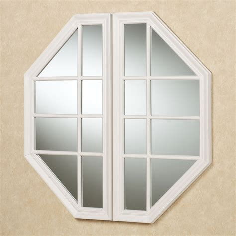 A Touch Of Class Home Decor Cheverly Faux Window Octagonal Wall Mirror
