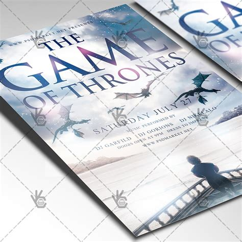The Game Of Thrones Premium Flyer Psd Template Psdmarket Of Thrones Photoshop Template