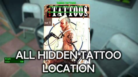 eagle tattoo location fallout 4 fallout 4 all hidden tattoo magazine location youtube