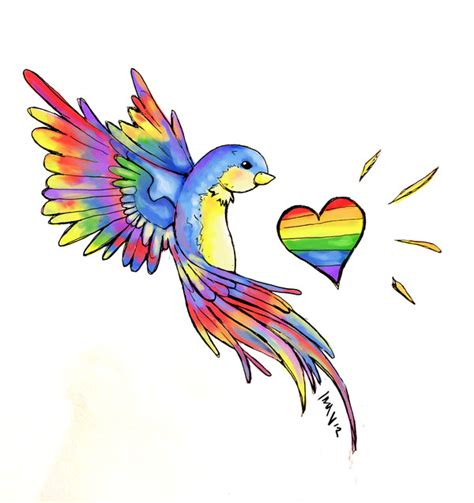 rainbow bird by inavangen on deviantart