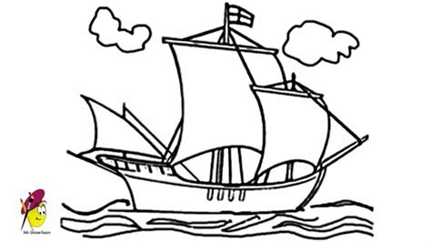 how to draw a boat from the first fleet ship how to draw a ship youtube