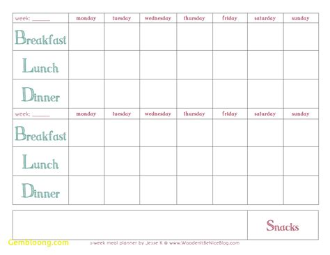 monthly meal planner template awesome monthly meal planner template best templates