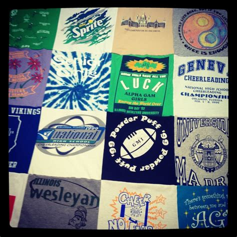 Repat Quilt by T Shirt Blankets 7x7 Blanket Gift Ideas