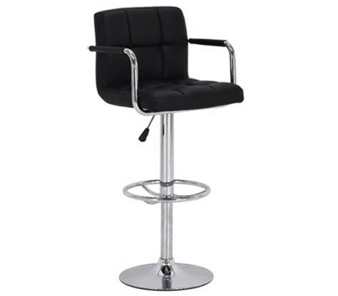 Bar Stool With Arm Rests by Faux Leather Bar Stool With Arm Rests Black