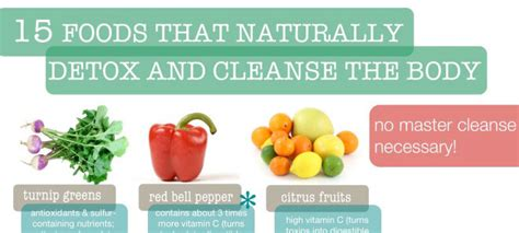 Foods That Detox The Naturally by Infographic 15 Foods That Naturally Detox And Cleanse