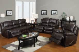 Leather Reclining Living Room Sets San Diego Traditional Brown Leather Reclining Sofa Seat Living Room Set Ebay