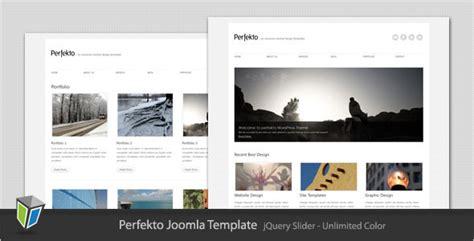 perfekto minimalist portfolio joomla template joomla
