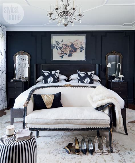 black and white room decor bedroom decor moody and dramatic master suite style at home