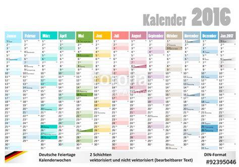 Jahreskalender Mit Kw Quot Kalender 2016 Mit Deutschen Feiertagen Kw Quot Stockfotos