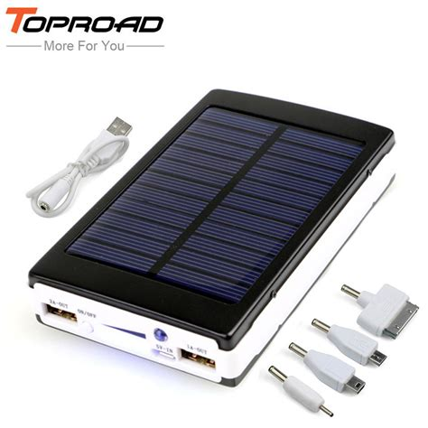 top portable solar chargers portable solar powerbank battery charger top gadgets