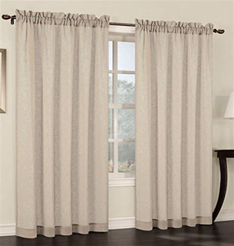 sheer curtains 54 inches long urbanest 54 inch wide by 96 inch long faux linen sheer set