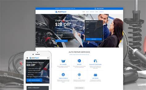 Car Repair Site Template Car Repair Responsive Website Template Free