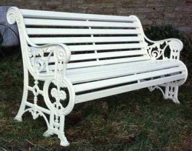 white cast iron bench 1000 images about painted ladies houses furnishings gardens on pinterest