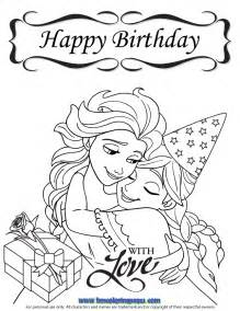Featured Disney Frozen Birthday Coloring Pages sketch template