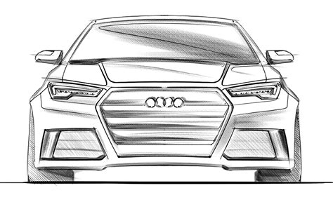 Sketches Of Cars by How To Draw Cars Front View