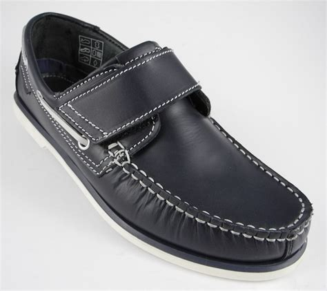 mens blue leather loafers mens dek navy blue leather velcro deck boat loafers shoes