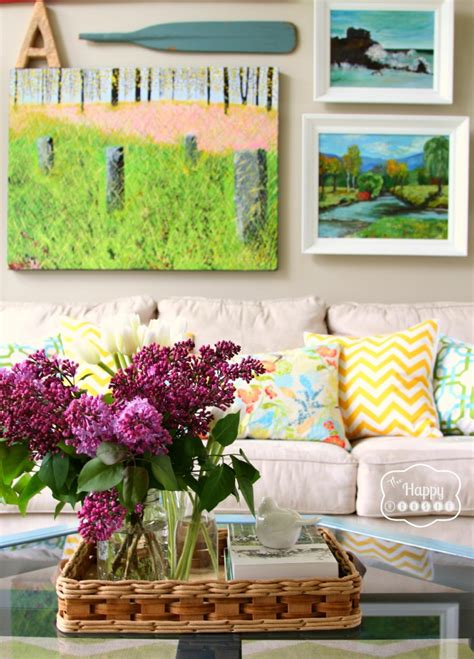 spring decorating spring ifying the living room the happy housie