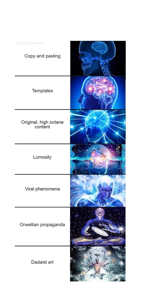 expanding brain meme  mc sun mchs