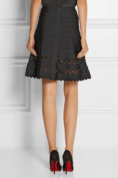 In Nicola Closet Herve Leger by Herv 233 L 233 Ger Nicola Cutout Bandage Mini Skirt Net A