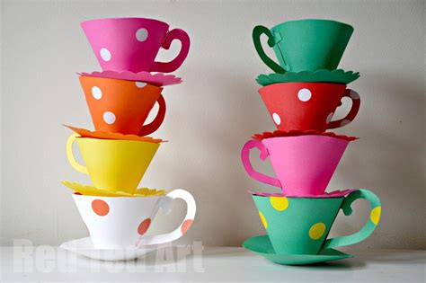 How To Make Paper Tea Cups - paper teacup printable ted s